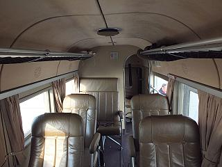 The cabin of the aircraft Junkers Ju 52 Lufthansa