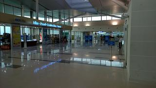 Shop and inspection area at the airport of Phu Quoc