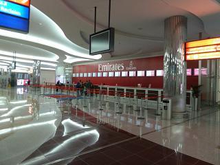 Representation of Emirates airlines in Dubai airport