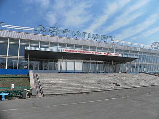 The terminal building of the airport of Bratsk