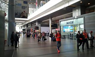 The arrivals hall in international terminal of the airport of Bogota Eldorado