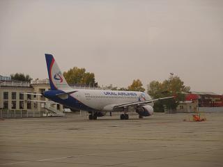 Airbus A320 Уральских авиалиний в аэропорту Чита Кадала