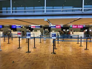 Reception in terminal 2 at Helsinki Vantaa airport