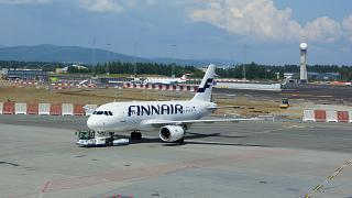 Airbus A319 Finnair в аэропорту Осло Гардермуен