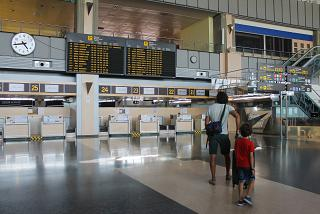 Reception at the airport of Valencia
