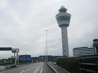 The control tower at Amsterdam airport Schiphol