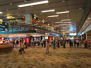 In terminal 1 of Singapore Changi airport
