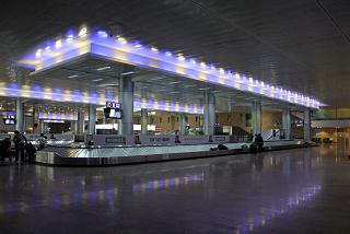 The Luggage belt in the airport of tel Aviv Ben Gurion