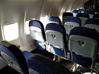 Seats in economy class in Boeing 737-700 of the Airlines of Argentina