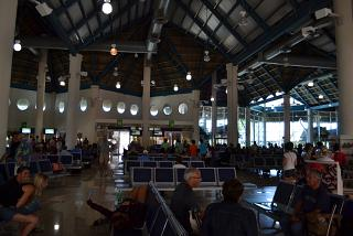The waiting room is air-conditioned in a clean area of the airport of Punta Cana
