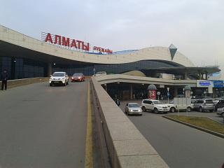 The passenger terminal of Almaty airport