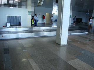 Baggage claim at the airport in Rostov-on-don