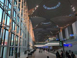 In the Central part of the terminal (zone C) at Istanbul New airport
