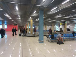 Hall baggage claim at the airport Koltsovo