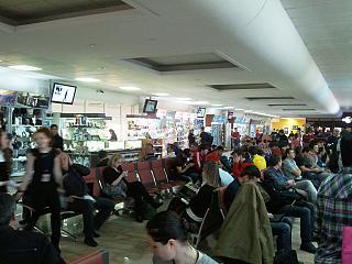 Зал ожидания в аэропорту Краснодара