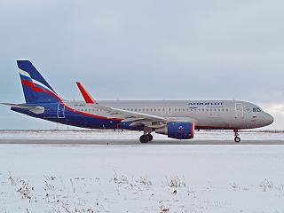 Airbus A320 VP-BAD Aeroflot at the airport of Ufa