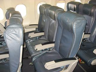 The passenger seats in the Airbus A319 of the airline TAP Portugal