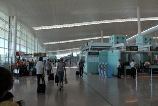 In the terminal 3 of Barcelona airport