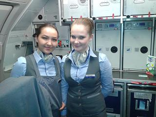 Stewardess airline Air Astana