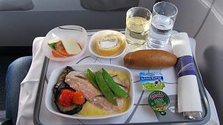 Питание в бизнес-классе Чешский авиалиний на рейсе Прага-Москва