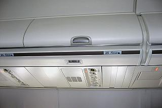 Luggage racks in the plane Boeing-737-800