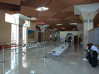 Departure lounge for domestic flights airport of Agadir al Massira