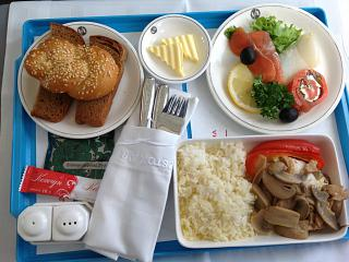 Food on the flight Magadan-Khabarovsk airlines, Vladivostok air