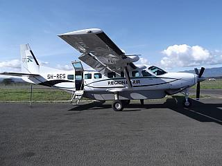 Cessna 208 5H-RES airlines Regional Air in Arusha airport.