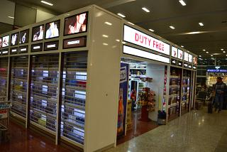 The Duty-free shop at Goa airport Dabolim