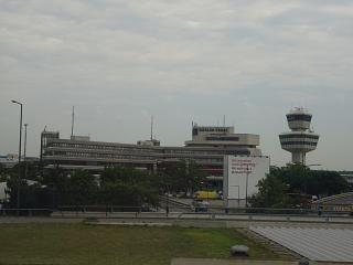 The main passenger terminal of the airport Berlin Tegel