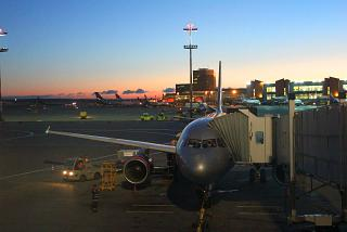 Early morning at Sheremetyevo airport