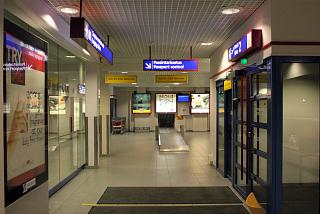 The arrivals area at the airport in Kajaani