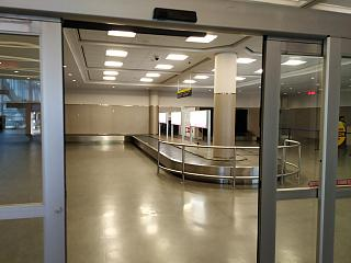 The baggage claim area at the airport Toronto city