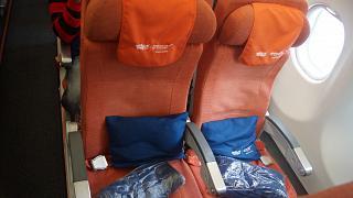 Кресла экономического класса в самолете Airbus A330-200 авиакомпании Аэрофлот