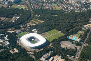 Football stadium Commerzbank-Arena in Frankfurt am Main