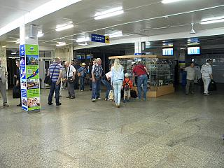 The arrival hall at the airport Baikal, Ulan-Ude
