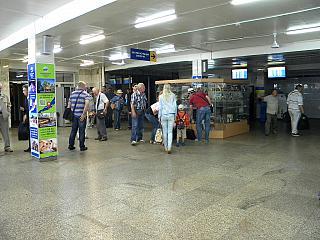 Зал прилета в аэропорту Байкал города Улан-Удэ