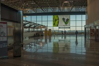 В терминале 1 аэропорта Милан Мальпенса