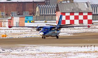 Plane L-410 of airlines Force at the Irkutsk airport