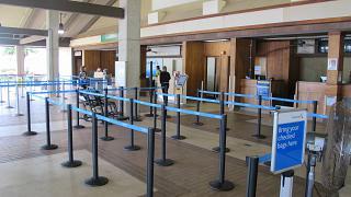 Зона регистрации пассажиров American Airlines в аэропорта Лихуэ