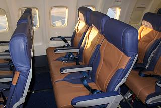 The cabin of the aircraft Boeing-737-300 Southwest Airlines