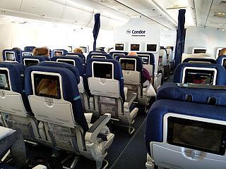 The cabin class Premium Economy Boeing-767-300 Condor airlines