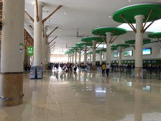 In the terminal building of the airport of Punta Cana