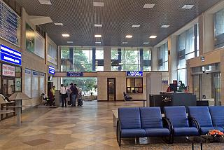 In the terminal building of the airport of Lipetsk