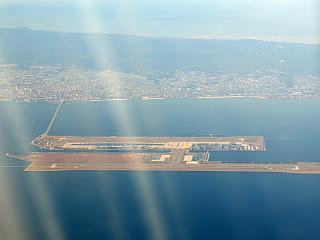 Airport Osaka, Kansai, built on an artificial island