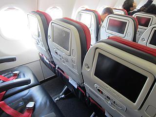 Кресла экономического класса в самолете Airbus A321 Турецких авиалиний