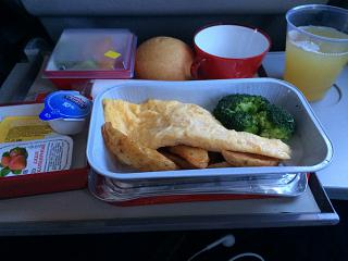 Flight meals on the flight Moscow-Madrid Iberia