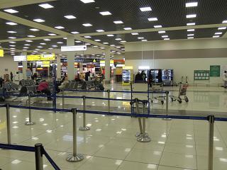 В терминале Е аэропорта Москва Шереметьево
