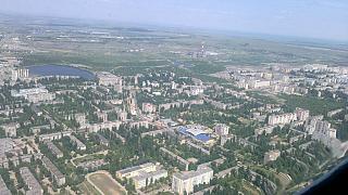 In flight over Saratov