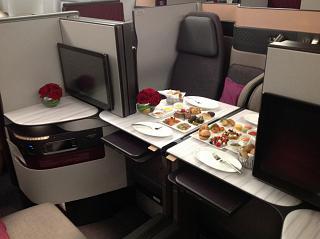 Business class Boeing 777-300ER Qatar Airways